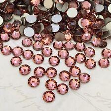 SWAROVSKI Crystals 100 x SS16 rhinestones diamantes BLUSH ROSE PINK GLUE ON tutu