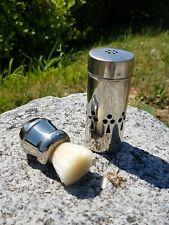 Blaireau ancien vintage Nylon S Rhodia voyage Old shaving brush