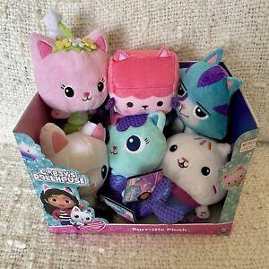 Gabby's Dollhouse All 6 PURR-IFIC PLUSH Box Cat Pandy Paws Fairy Cakey Mercat