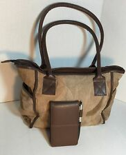 New Leather shoulder bag big Tote bag All in one Bag & agenda book Gift for her