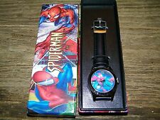 Spider-man Spiderman watch with leather band Nib New