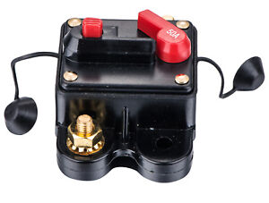 50A Car Audio Inline Circuit Breaker Fuse For 12V Protection Skcb-01-50A