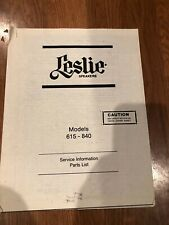 Leslie 615-840 Service Manual - Printed Copy