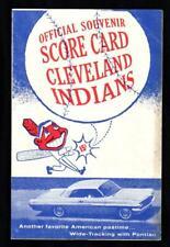 1962 CLEVELAND INDIANS vs MINNESOTA TWINS Unscored Program - Held  Romano !!!