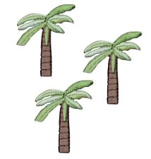 Tropical Palm Tree Applique Patch (3-Pack, Small, Iron on)