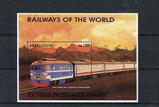Sierra Leone 1996 MNH Railways World 1v S/S IV Express Passenger Trains Stamps
