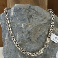 "DAVID YURMAN Sterling Silver & 14K Gold 16"" Wheat Chain Necklace"