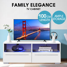 Levede TV Cabinet Entertainment Unit Stand LED Lowline Shelf Storage Furniture