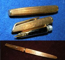 STYLO PLUME OR - DE COLLECTION WATERMAN CF - PLAQUÉ OR -  (1960)