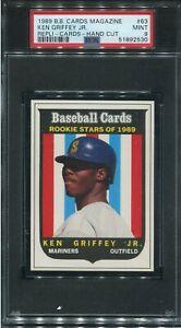 PSA 9 MINT 1989 BB MAGAZINE REPLI-CARDS KEN GRIFFEY JR. #63 ROOKIE RC 92530 B211
