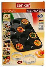 Zenker 7518 Fingerfood croustillante/FLEURS pizza plaque du four 38 x 26 CM