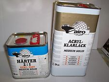 2K MS Clearcoat Lacquer Pack 5 lt Clear + 2.5lt Fast Hardener  Scratch Resistant
