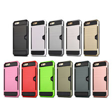 Shock Proof Case Card Stand Slim Wallet Cover for Apple iPhone 5 5S SE 6 6S Plus