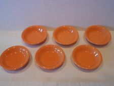 Set Of 6 Dessert Bowls Orange Poppy Fiesta By Homer Laughlin Downsizing Vgc