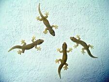 4 x Lizzard Gecko Dekofigur je 7,5 cm Gummi Eidechse Salamander