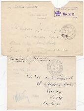 1940 x 2 ICELAND FIELD POST OFFICE =306= POSTMARKS CENSORED COVERS WW2 TO UK