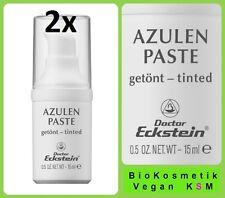 2x AZULEN PASTE GETÖNT Dr. Eckstein BioKosmetik Rötungen oder Hautunreinheiten