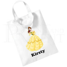 Personalised Girls Beauty & The Beast Belle Cotton Mini Tote Bag- Book Bag