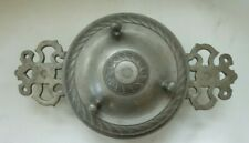 Antique German Two-Eared Pewter Porringer with Gadrooned Lid