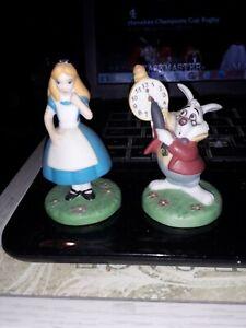 Disney Alice in Wonderland & White Rabbit Ceramic Ornaments, Premier Edition