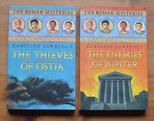 The Roman Mysteries, Caroline Lawrence, 2 book bundle - Used