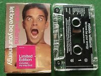 Robbie Williams Let Love Be Your Energy Ltd Edition Cassette Tape Single TESTED