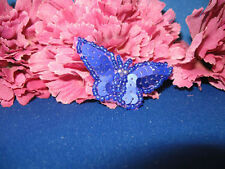 PURPLE BUTTERFLY SEQUIN BEADED APPLIQUE 0657-S4