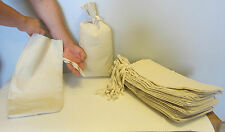 """4 CANVAS COIN BANK DEPOSIT BAG WITH SEWN-ON TIES 9"""" BY 17.5"""" MONEY SACKS BAGS"""