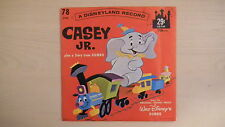 Disneyland Record CASEY JR. Plus Story from Dumbo 78 RPM 1962