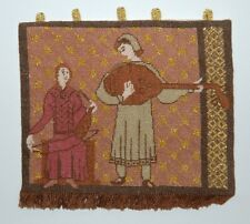 Medieval Minstrels Hanging~1/12th Scale ~Beautifully Hand Woven By Esther Cairns