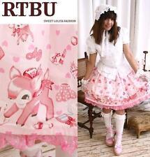 Sweet Princess Lolita Bambi Rabbit Vanity Makeup Skirt