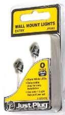 Woodland (O-Scale) 5663 Just Plug Wall Mount Entry Lights (2 Pkg) NIB