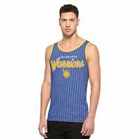 NBA Golden State Warriors Men's Pinstripe Tank Top, Medium, Booster Blue