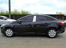2012-2018 Ford Focus Sedan/Hatchback 4Pc Chrome Pillar Post Stainless Steel Trim