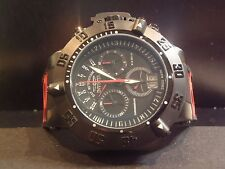 Men's Invicta 0877 Subaqua Noma III Black Red Poly Strap Black Chronograph Watch