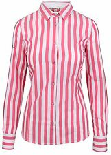 L' ARGENTINA Damen Bluse Shirt Langarm Größe 38 M Rosa Pink Gestreift Striped