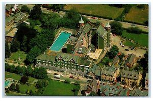 Postcard Hotel Metropole Llandrindod Wells Wales aerial view