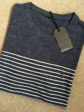 AllSaints Short Sleeve Striped T-Shirts for Men