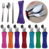 Portable Tableware Case Chopsticks Spoon Fork Cutlery Bag Dinner Travel Camping