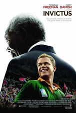 INVICTUS Movie POSTER 27x40 Matt Damon Morgan Freeman Scott Eastwood Langley