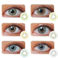 1Pair 1Year Unisex Blue Sky Gray Jade Green Coloured Contact Lens Lenses  Bien