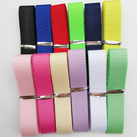 "12Yards 5/8"" (15mm) Grosgrain Ribbon Hat Ribbons 12 Colors Assorted Bulk Lots"