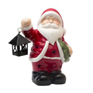 Lighted Ceramic LED Santa Claus Christmas Decoration Figurine