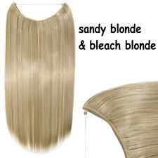 100% Real Thick Secrect Wire Hair Extensions 3/4 Full Head Hair Extention Blonde