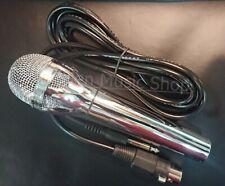 Dynamisches chrom Mikrofon, 2m Anschlußkabel, 3,5mm + 6,3mm Anschlußstecker