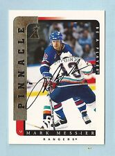 MARK MESSIER 1996/97 PINNACLE BE A PLAYER SIGNATURE AUTOGRAPH AUTO SP