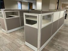 Trendway 7x6 Office Cubicles Workstations Glass