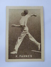 ORIGINAL 1930S CRICKET TRADING CARD / K FARNES - ENGLAND .. GRIFFITHS SWEETS