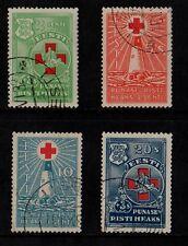 1931 ESTONIA RED CROSS STAMP(F.USED) S.G.91-94
