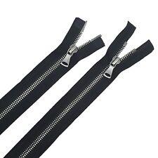 Glossy 5MM Teeth Black/Antique Nickel Two-Way Open Bottom Jacket Zipper